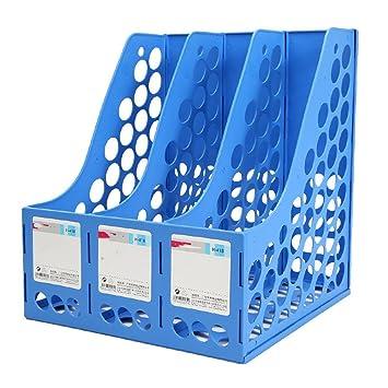 ... azul Archivador de marcos Divisor de archivos Archivador Exhibidor y cajas de almacenamiento organizador 3 Grid File Holders Material de oficina (2 ...