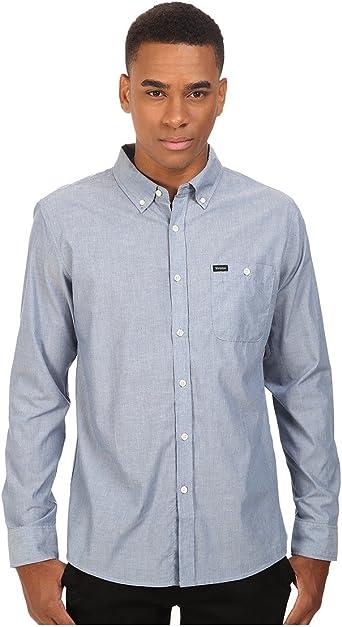 BRIXTON Shirt Central Long Sleeve - Camiseta de Manga Larga Central Hombre: Amazon.es: Ropa y accesorios