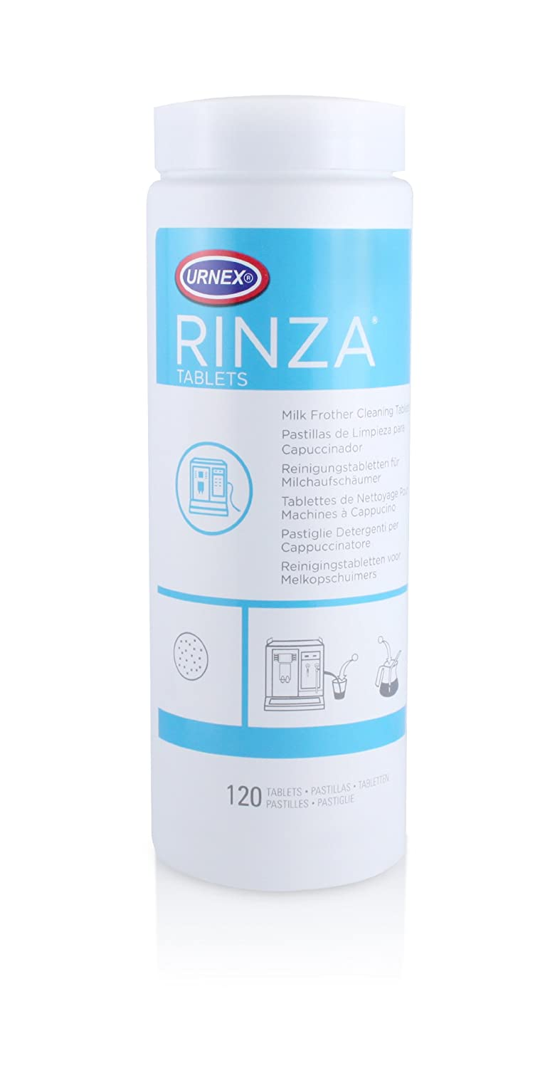 Rinza Milk Frother Cleaning Tablets - 120 tablets - Breaks Down Milk Protein Fat and Calcium Build Up 7145TWCkv5L