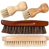 靴磨き ブラシ セット 馬毛ブラシ 豚毛 ペネトレイトブラシ 4本セット 収納麻袋付 [FOOTSTEPS]