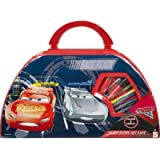 Disney Cars Kids Childrens Carry Along Art Case 52 Pieces Craft Toy