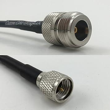 RG400 - Cable coaxial RF 50 Ohm, Baja pérdida, de Fibra a Mini UHF ...