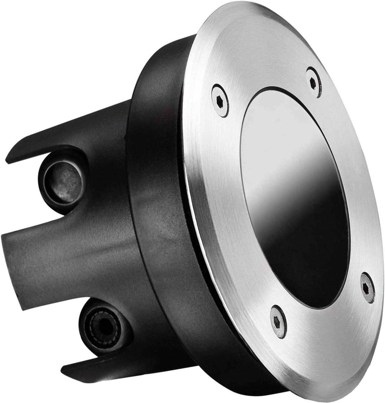 Foco empotrable en el suelo plano, redondo, IP67, acero inoxidable, cristal, soporta hasta 2000 kg, profundidad de montaje de 70 mm, solo adecuado para módulos LED.
