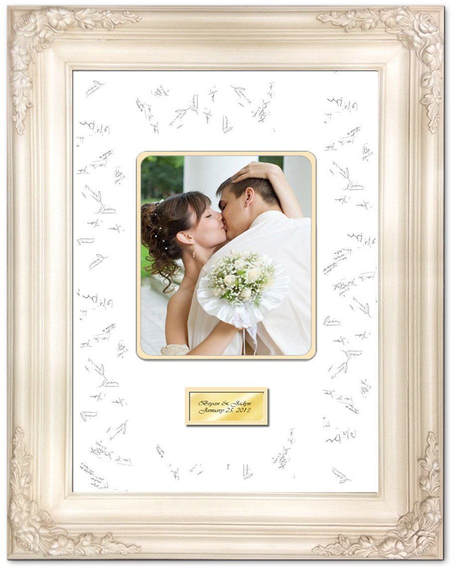 Amazon wedding anniversary photo signature frame with two amazon wedding anniversary photo signature frame with two handmade ribbon pens jeuxipadfo Images
