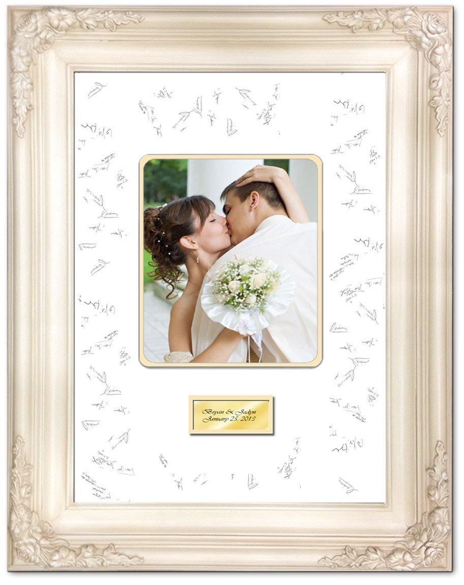 Amazon.com - Wedding Anniversary Photo Signature Frame with Two ...