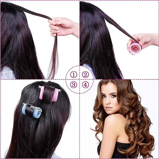 Amazon.com: Anezus - Juego de 60 rulos para el pelo, incluye ...