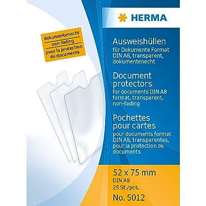 HERMA 5012 - Funda para tarjeta identificativa (52 x 75 mm ...