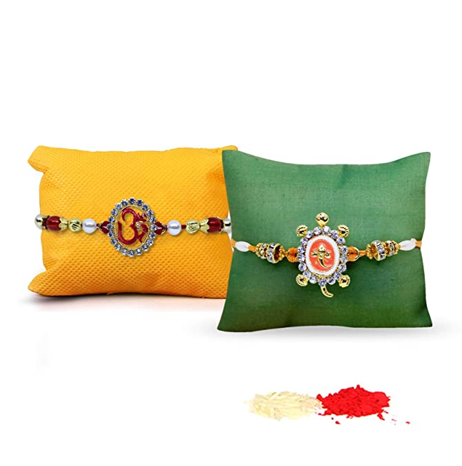 Tied Ribbons Rakhi With Roli Chawal Pack For Men/Boys (Set Of 2)