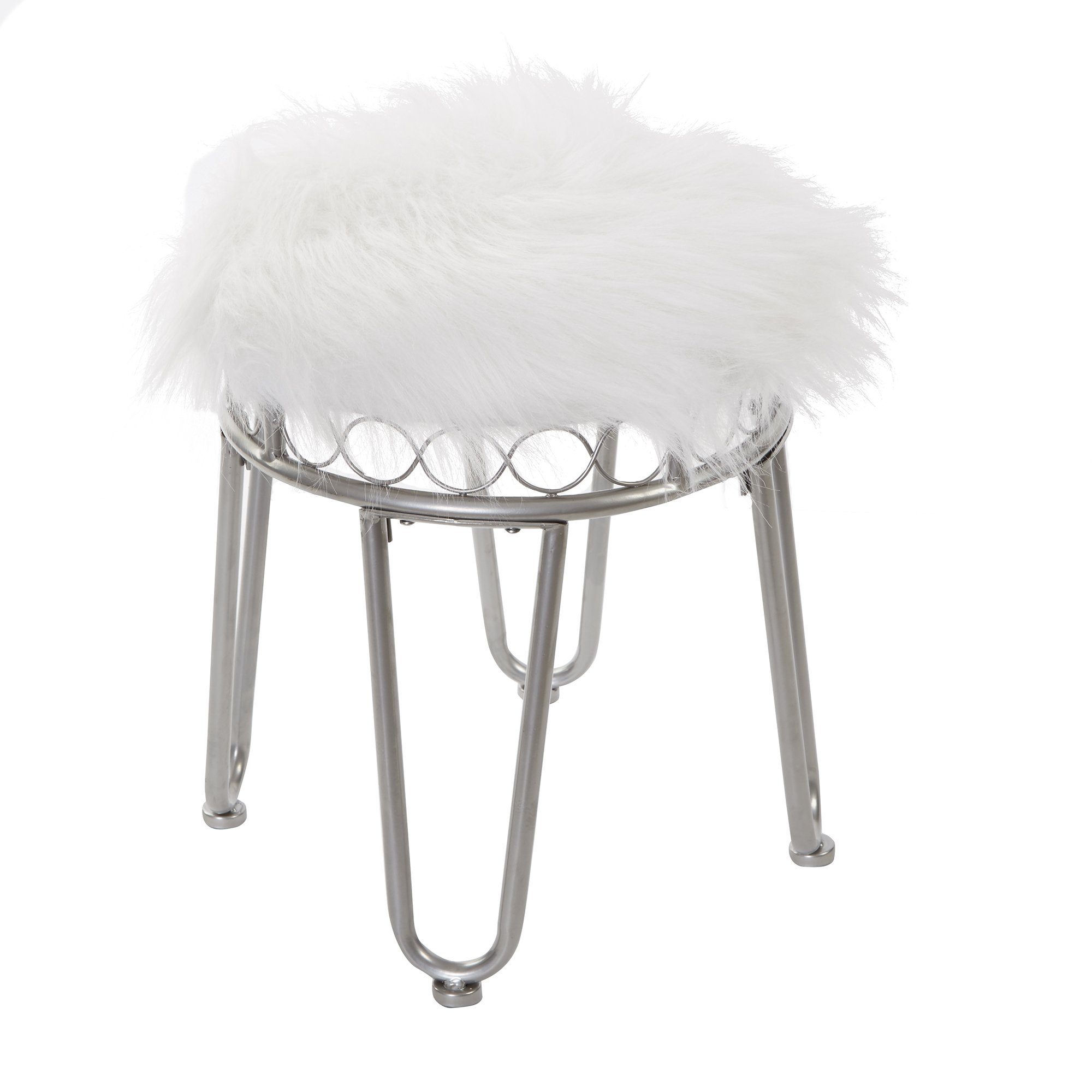 Silverwood Hannah Vanity Stool with Hairpin Legs by Silverwood
