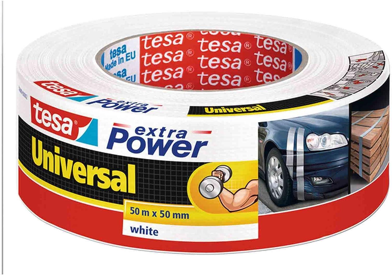 3, wei/ß Tesa Extra Power universal Reparaturband//56389 in schwarz wei/ß und silber zur Auswahl