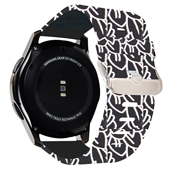 Samsung Gear S3 Frontier/ Classic Smart Watch Band,Budesi 22mm Soft Replacement Sport Bracelet Strap for for Samsung Gear S3 Frontier / S3 Classic ...