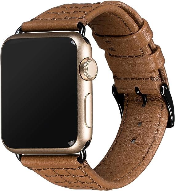 Amazon.com: Sena Isa Genuine Leather Apple Watch Strap ...