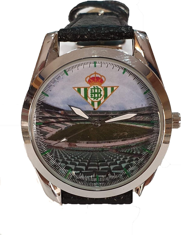 Reloj para niños Real Betis Balompié. Escudo y Estadio Benito Villamarín: Amazon.es: Relojes