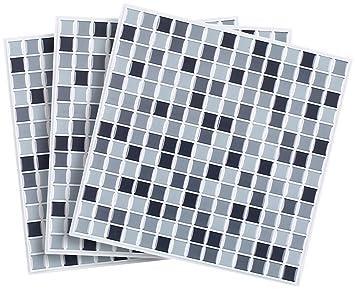 Infactory Wanddeko Selbstklebende 3d Mosaik Fliesenaufkleber Dezent