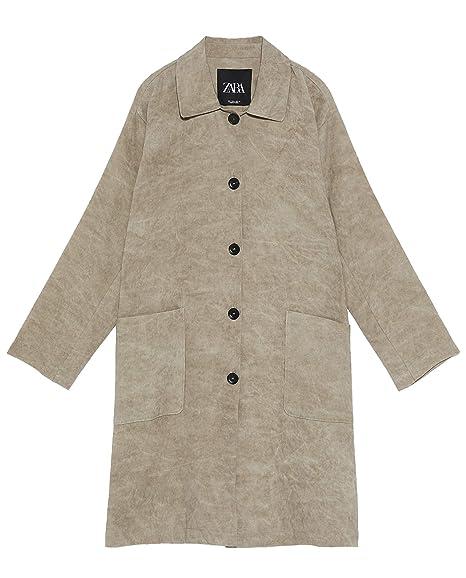 e6d568e38e Zara Women s Buttoned Frock Coat 2731 040 Green  Amazon.co.uk  Clothing