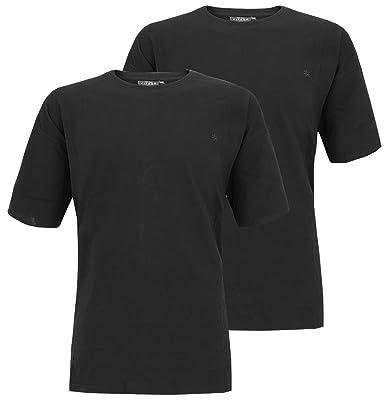 KITARO Doppelpack T-Shirt 2 Stück Schwarz 6XL