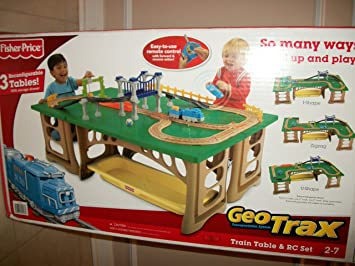 Mattel Fisher-Price Geotrax Train Table And Rc Set: Amazon.co.uk ...