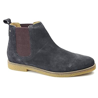 130995d39144 Base London FERDINAND Mens Suede Chelsea Boots Navy  Amazon.co.uk ...