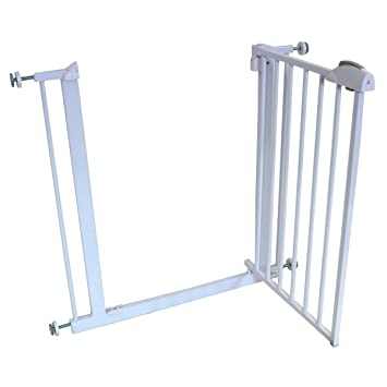 Delightful ISafe DeLuxe Stair Gate 90° STOP OPEN U0026 Auto Close StairGate   White 75