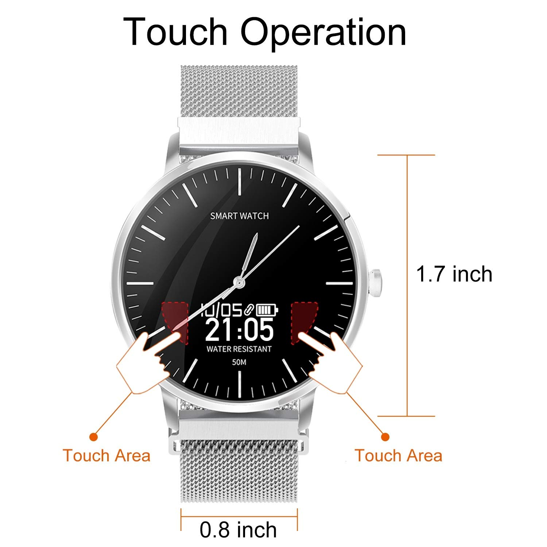 BingoFit Reloj inteligente de pulsera para surf, con pantalla ...