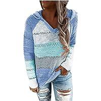 Fossen Sudaderas Mujer Baratas Cremallera Tallas Grandes Color de Costura, Jerséis Mujer Originales Suéter de Punto…