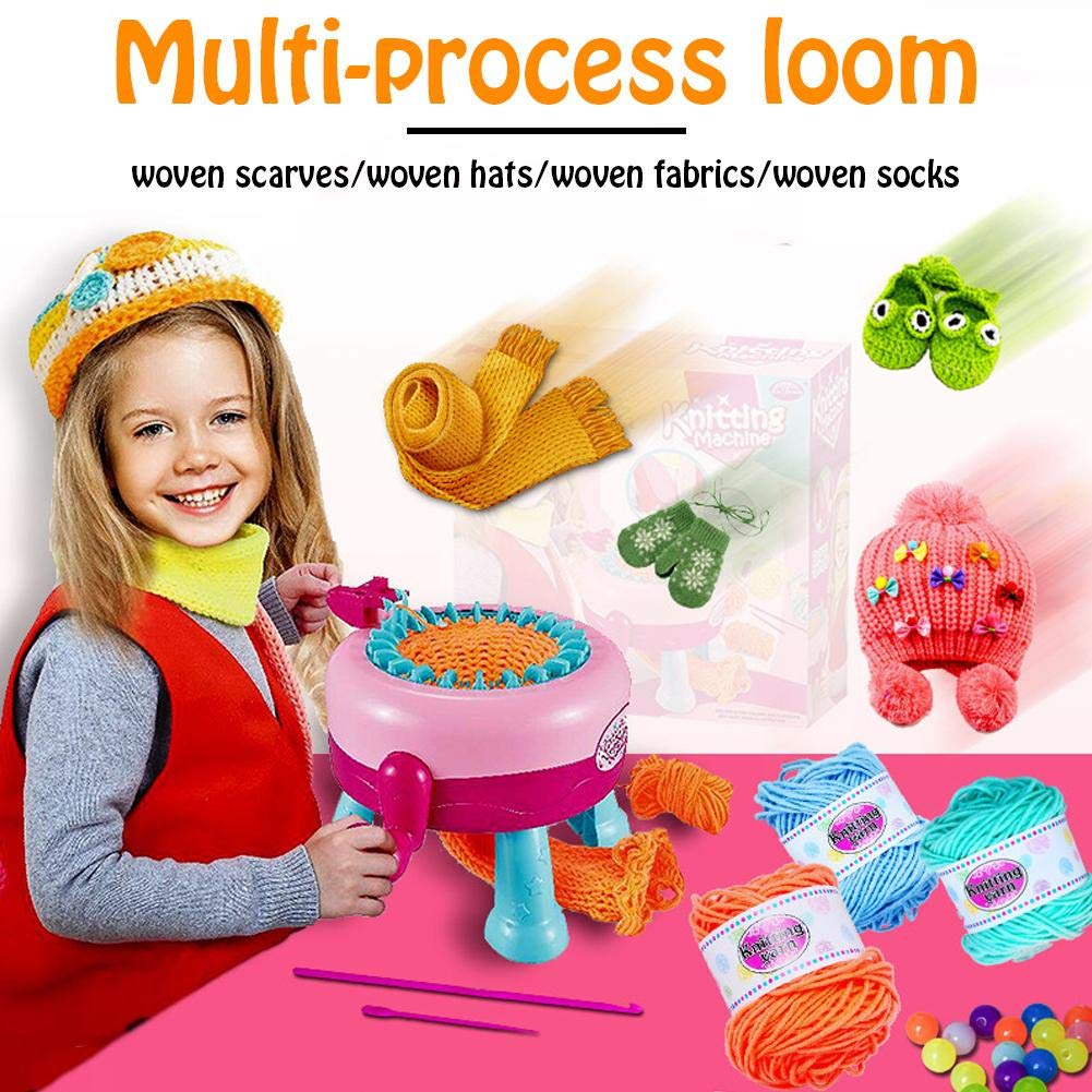Per Knitting Looms and Boards Girls Crafts Smart Weaver Knitting Machine Knitting Round Loom Weaving Loom Kit DIY Kit Educational Toy for Kids