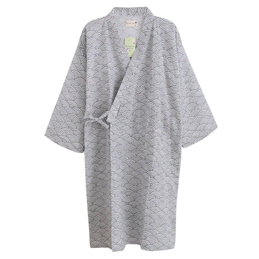 Women Men Sleepwear Cotton Robes Kimono Pajama Large Night Gown Loose Lounger