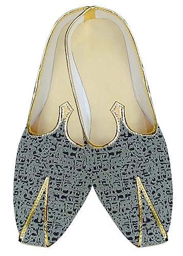 Mens Sky Blue Wedding Shoes Indian Designer MJ14181