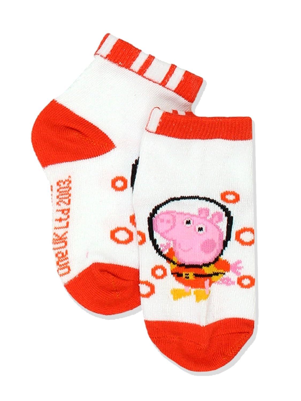4-6 Toddler , White//Multi Quarter Peppa Pig George Boys 6 pack Socks Shoe: 7-10