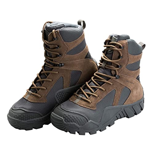 c82b760b636 FREE SOLDIER Outdoor Men's Tactical Military Boots Suede Leather Work Boots  Combat Hunting Boots