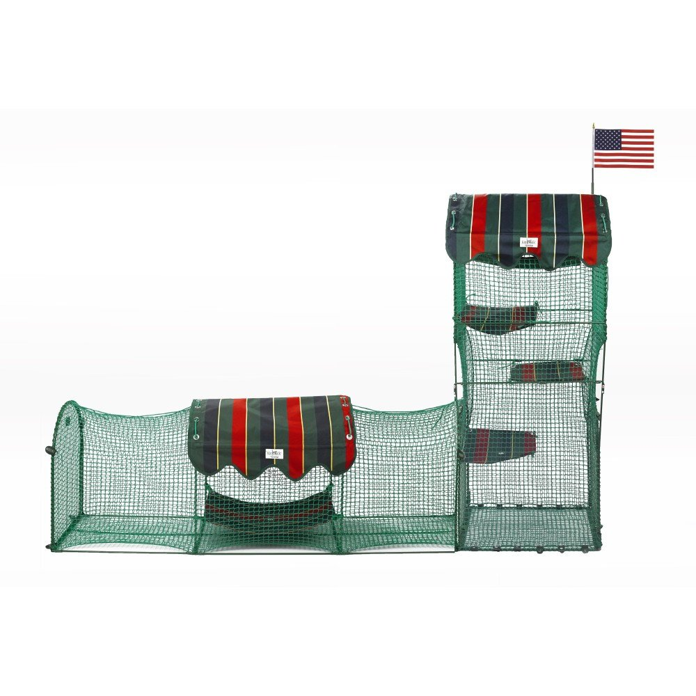 Kittywalk Town and Country Collection Outdoor Cat Enclosure Green by Kittywalk