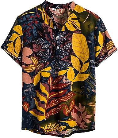 Sylar Camisa Hawaiana Hombre Hombre Polo De Manga Corta Camisetas Hombre Originales Estampado Vintage Camisetas Hombre De Algodón De Lino Camisas Hombre Originales: Amazon.es: Ropa y accesorios