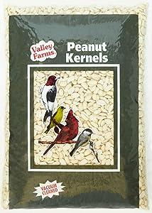 Valley Farms Peanut Kernels Wild Bird Food - Clean & Fresh (15 LBS)