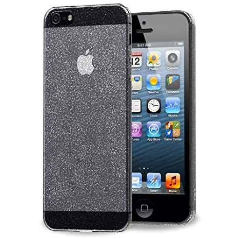 iVoler Funda Carcasa Gel Space Quartz para iPhone SE/iPhone 5S / iPhone 5, Ultra Fina 0,33mm, Silicona TPU de Alta Resistencia y Flexibilidad