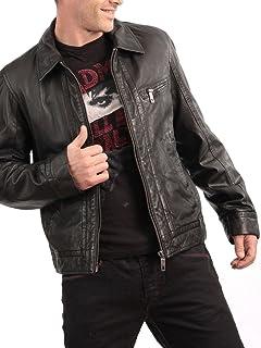 1501325 Laverapelle Mens Genuine Lambskin Leather Jacket Black, Rocker Jacket
