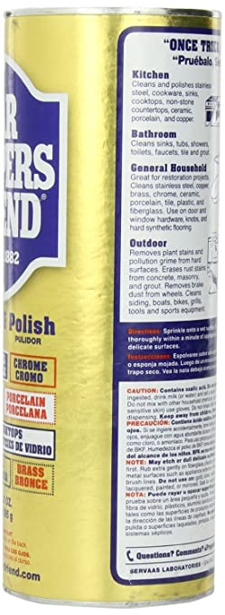 Amazon.com: Bar Keepers Friend Cleanser and Polish, 21 Ounce-Pack Of 2: Home & Kitchen