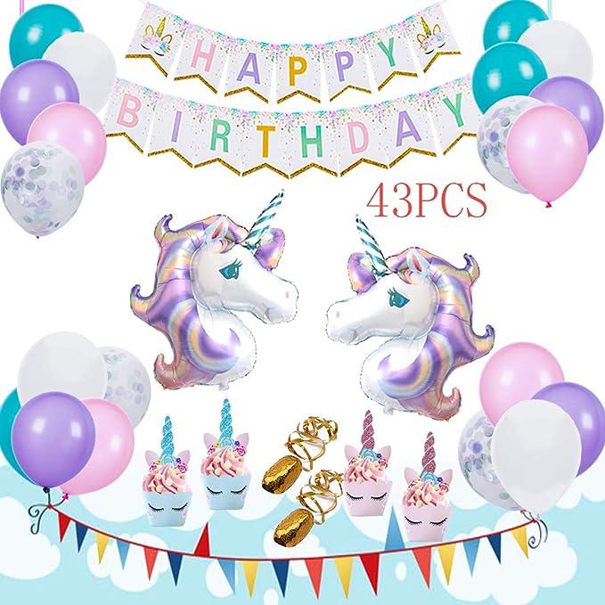 Amazon.com: AIFUN Unicornio suministros de fiesta ...