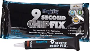 MagicEzy 9 Second Chip Fix (Royal Blue) – One part Gelcoat Repair Kit Fixes & Colors Chips, Scrapes & Drill Holes Fast - Structural Grade Adhesion Guaranteed