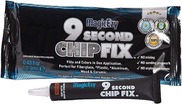Forest Green MagicEzy 9 Second Chip Fix: Fiberglass Repair for Damaged Gelcoat
