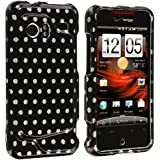 HTC Droid Incredible 6300 Case, TechSpec(TM) Polka Dot Design Crystal Hard Case Cover for HTC Droid Incredible 6300