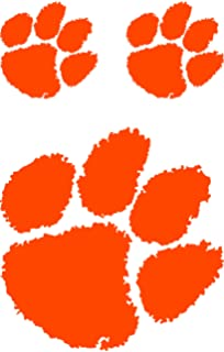 d775821427dd Clemson Tigers Purple Outlined TIGER PAW Logo 12