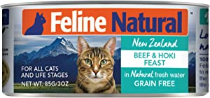 Feline Natural Canned Cat Food Perfect Grain Free, Healthy, Hypoallergenic Limited Ingredients - BPA-Free Wet Cat Food - Nutrition for All Cat Types