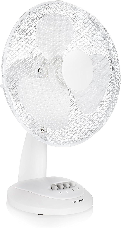 Ventilador de mesa Tristar VE-5930 – 30 centímetros – Oscilante – Blanco: Amazon.es: Hogar
