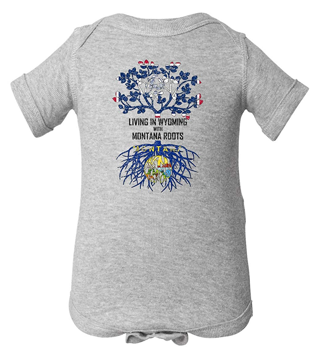 Tenacitee Babys Living in Wyoming Montana Roots Shirt