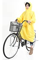 [krosta]【全7色(日本語パッケージ)】高品質 自転車/バイク レインコート(収納袋付) オックスフォード生地 袖つき レインポンチョ さっと着れる♪さっと脱げる♪男女兼用 フリーサイズ 防水 防汚 防油加工