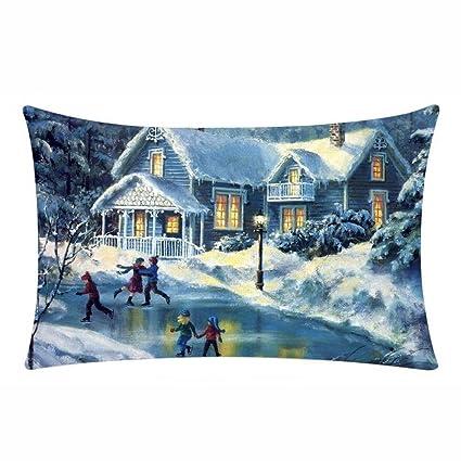ronamick Navidad almohada funda de cojín (cintura 30 x 50 cm ...