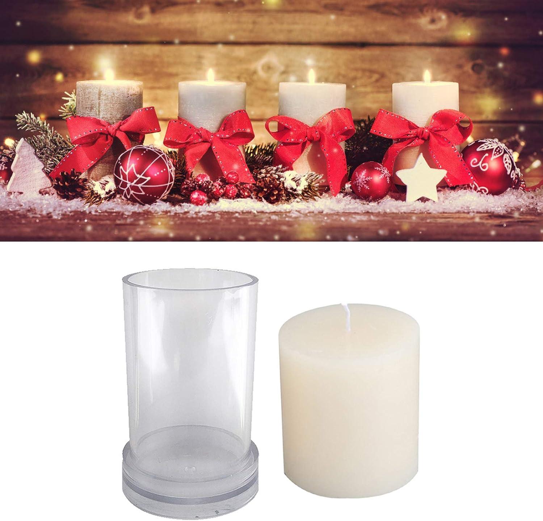3D Kerzen Gie/ßform Kerzenform zum Gie/ßen DIY Handgemachte Kerze Bastelwachsform Aromatherapie Kerze Schimmel S/äule Stabwachsform 7.5 11.3cm