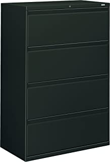 product image for HON 884LS 800 Series Four-Drawer Lateral File, 36w x 19-1/4d x 53-1/4h, Charcoal