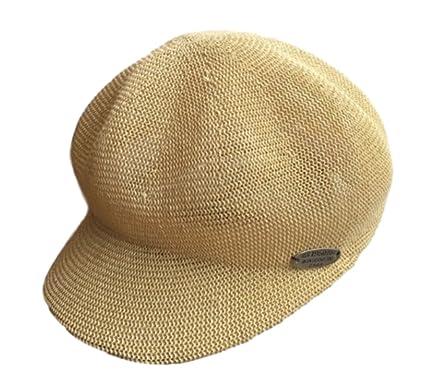 65877d565bae2f Amazon | [プラセル] 夏 帽子 日焼け防止 uv 麦わら 風 ツバ付き ベレー ...