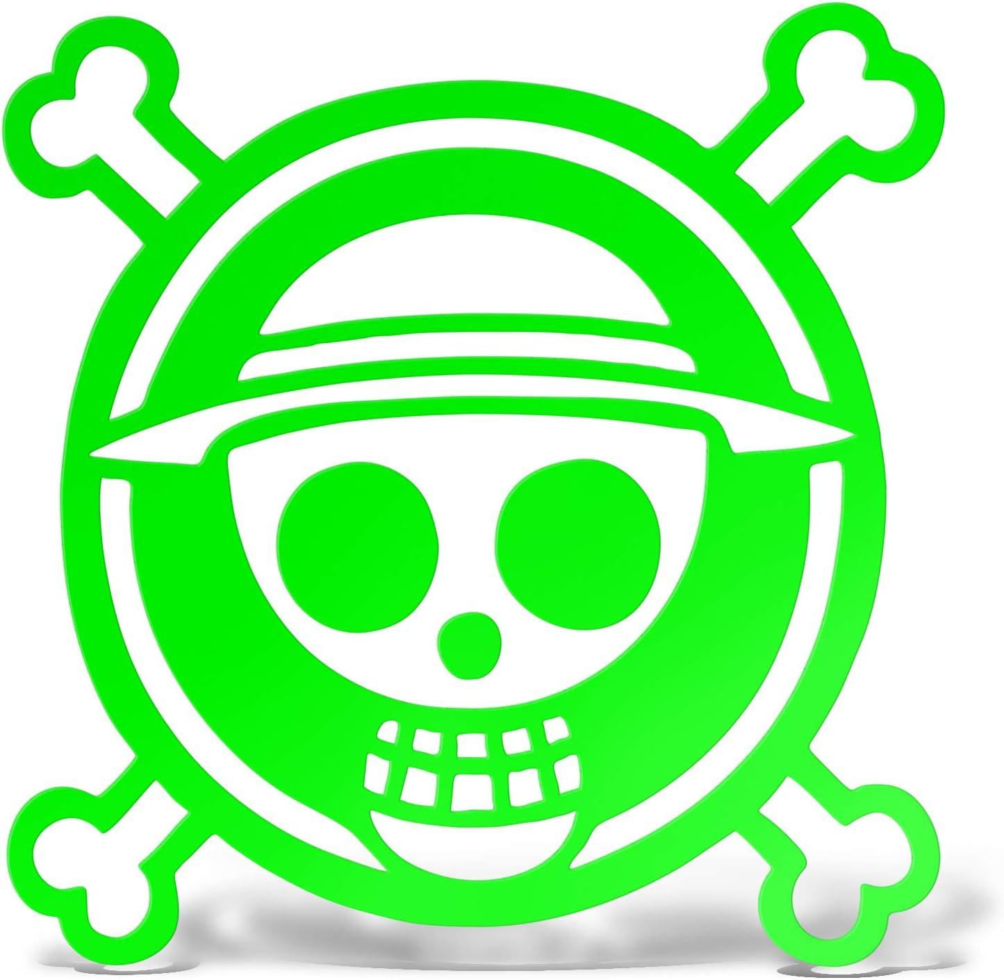 cm 12 erreinge Sticker One Piece Pirate Blue Autocollant pr/éd/écoup/é in PVC pour D/écalcomanie Muraux Voiture Moto Casque Campeur Portable Scooter
